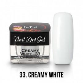 Gel Nail Art Creamy White