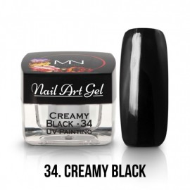 Gel Nail Art Creamy Black 4 gr