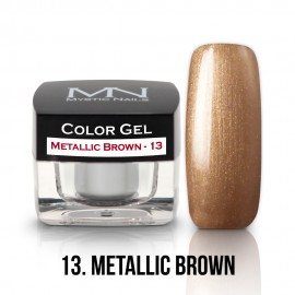 Gel UV Colorat Clasic - nr - 13 - Metallic Brown - 4 gr