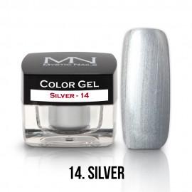 Gel UV Colorat Clasic - nr - 14 - Silver- 4 gr