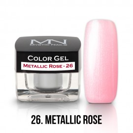 Gel UV Colorat Clasic - nr - 26 - Metallic Rose - 4 gr