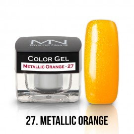 Gel UV Colorat Clasic - nr - 27 - Metallic Orange - 4 gr