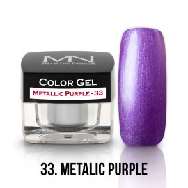 Gel UV Colorat Clasic - nr - 33 - Metallic Purple- 4 gr