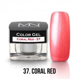 Gel UV Colorat Clasic - nr - 37 - Coral Red- 4 gr