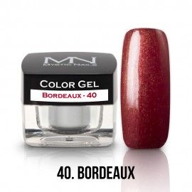 Gel UV Colorat Clasic - nr - 40 - Bordeaux- 4 gr