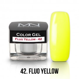 Gel UV Colorat Clasic - nr - 42 - Fluo Yellow- 4 gr