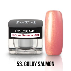 Gel UV Colorat Clasic - nr - 53 - Goldy Salmon- 4 gr