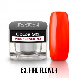 Gel UV Colorat Clasic - nr - 63 - Fire Flower- 4 gr