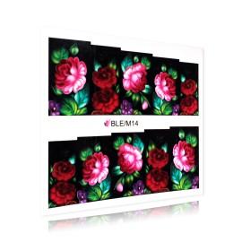 Sticker Unghii - Motiv Floral - BLE/M14