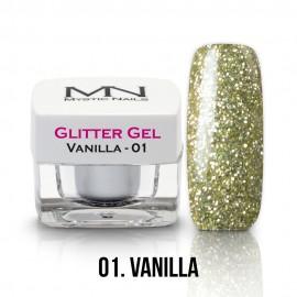 Gel UV cu Sclipici - nr.01 - Vanilla - 4g
