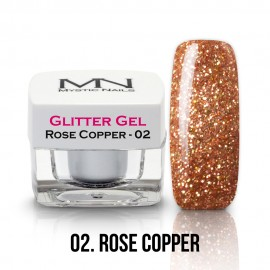 Gel UV cu Sclipici - nr.02 - Rose Copper - 4g