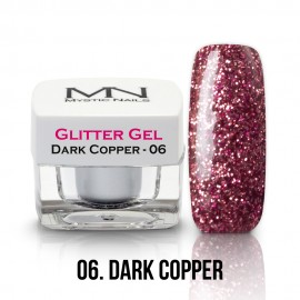 Gel UV cu Sclipici - nr.06 - Dark Copper - 4g