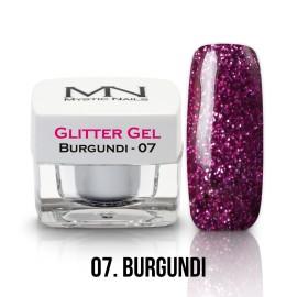 Gel UV cu Sclipici - nr.07 -  Burgundi - 4g