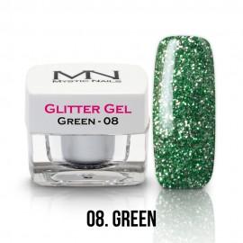 Gel UV cu Sclipici - nr.08 - Green - 4g