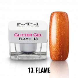 Gel UV cu Sclipici - nr.13 - Flame - 4g