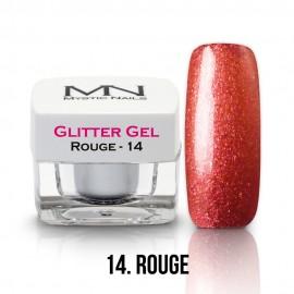 Gel UV cu Sclipici - nr.14 - Rouge - 4g