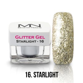 Gel UV cu Sclipici - nr.16 - Starlight - 4g