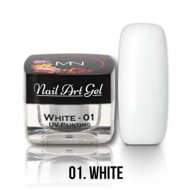 Gel UV - Nail Art Painting nr. 01 - White - 4 gr