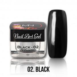 Gel UV - Nail Art Painting nr. 02 - Black - 4 gr