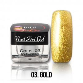 Gel UV - Nail Art Painting nr. 03 - Gold - 4 gr