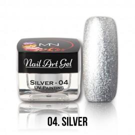 Gel UV - Nail Art Painting nr. 04 - Silver - 4 gr