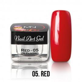 Gel UV - Nail Art Painting nr. 05 - Red - 4 gr
