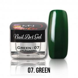 Gel UV - Nail Art Painting nr. 07 - Green - 4 gr