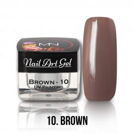 Gel UV - Nail Art Painting nr. 10 - Brown - 4 gr