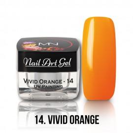 Gel UV - Nail Art Painting nr. 14 - Vivid Orange - 4 gr