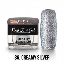 UV Nail Art Gel - 36 - Creamy Silver - 4  GR