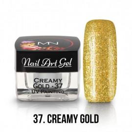 UV Nail Art Gel - 37 - Creamy Gold - 4 gr