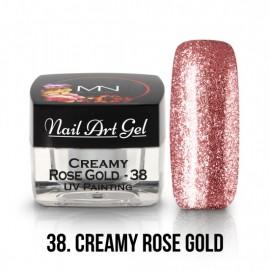 UV Nail Art Gel - 38 - Creamy Rose Gold - 4 gr