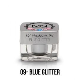 Geluri UV Colorate - Gel Plastilină 3D - 09 - Blue Glitter - 3,5g