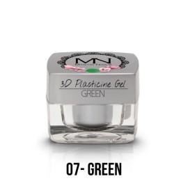 Geluri UV Colorate - Gel Plastilină 3D- 07 - Green - 3,5g