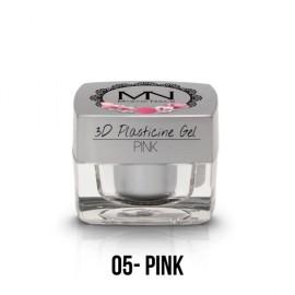 Geluri UV Colorate - Gel Plastilină 3D - 05 - Pink - 3,5g