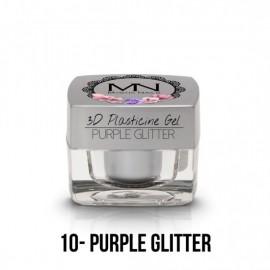 Geluri UV Colorate - Gel Plastilină 3D - 10 - Purple Glitter - 3,5g