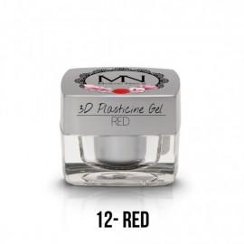 Geluri UV Colorate - Gel Plastilină 3D - 12 - Red - 3,5g