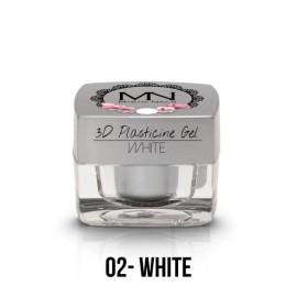 Geluri UV Colorate - Gel Plastilină 3D - 02 - White - 3,5g