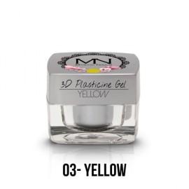 Geluri UV Colorate - Gel Plastilină 3D - 03 - Yellow - 3,5g