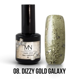 Gel Lac - Mystic Nails Dizzy no.08. - Dizzy Gold Galaxy 8 ml