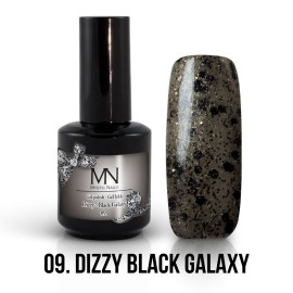 Gel Lac - Mystic Nails Dizzy no.09. - Dizzy Black Galaxy 12 ml