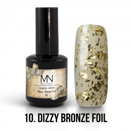 Gel Lac - Mystic Nails Dizzy no.10. - Dizzy Bronze Foil 12 ml