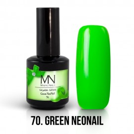 Gel Lac - Mystic Nails no.70. - Green NeoNail 12 ml